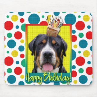 Birthday Cupcake - Greater Swiss Mountain Dog Mouse Pad