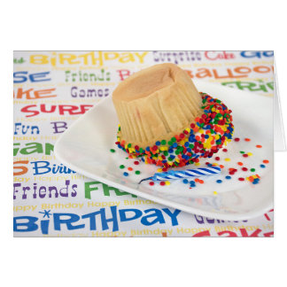 birthday cupcake humour greeting card