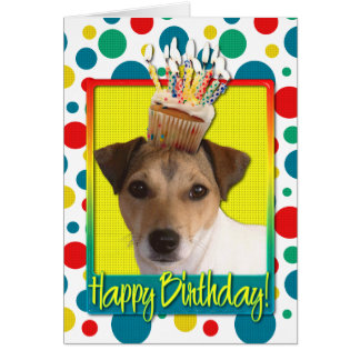 Birthday Cupcake - Jack Russell Card