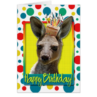 Birthday Cupcake - Kangaroo Card