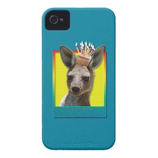 Birthday Cupcake - Kangaroo iPhone 4 Cases