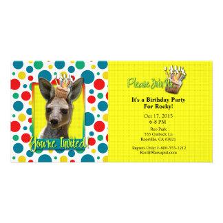 Birthday Cupcake - Kangaroo Customised Photo Card