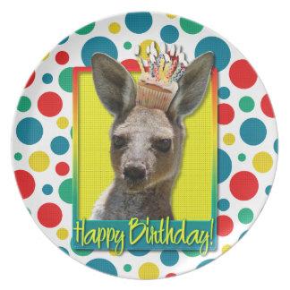 Birthday Cupcake - Kangaroo Plate