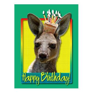 Birthday Cupcake - Kangaroo Postcard