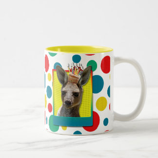 Birthday Cupcake - Kangaroo Two-Tone Coffee Mug