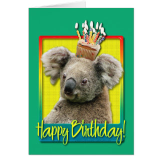 Birthday Cupcake - Koala Greeting Card