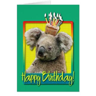 Birthday Cupcake - Koala Greeting Card