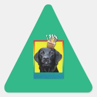 Birthday Cupcake - Labrador - Black - Gage Triangle Sticker