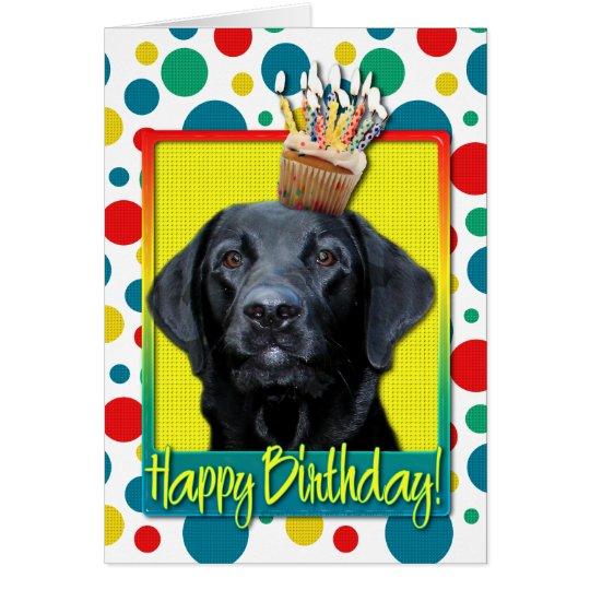 Birthday Cupcake - Labrador - Black - Gauge