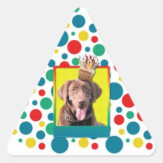 Birthday Cupcake - Labrador - Chocolate Triangle Sticker