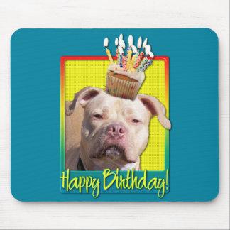 Birthday Cupcake - Pitbull - Jersey Girl Mouse Pad
