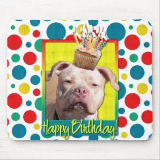 Birthday Cupcake - Pitbull - Jersey Girl Mousepad
