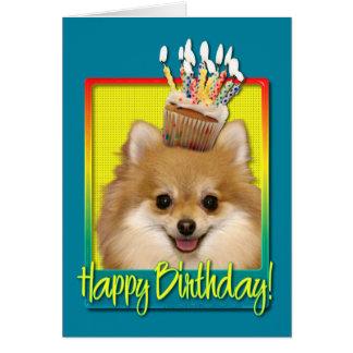 Birthday Cupcake Pomeranian Card