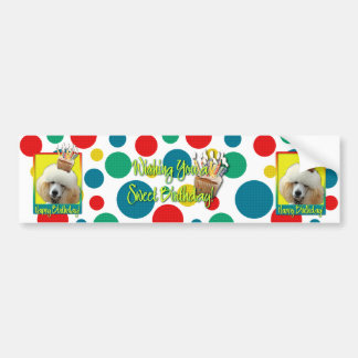 Birthday Cupcake - Poodle - Apricot Bumper Stickers