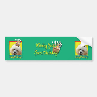 Birthday Cupcake - Poodle - Apricot Bumper Sticker