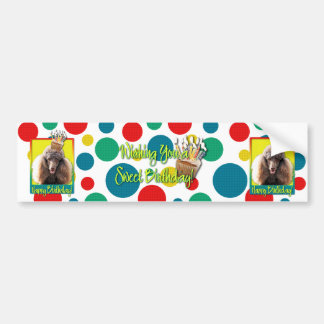 Birthday Cupcake - Poodle - Chocolate Bumper Sticker