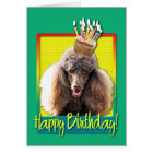 Birthday Cupcake - Poodle - Chocolate Card