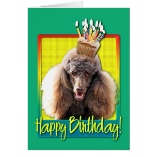 Birthday Cupcake - Poodle - Chocolate Card