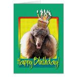Birthday Cupcake - Poodle - Chocolate Greeting Card