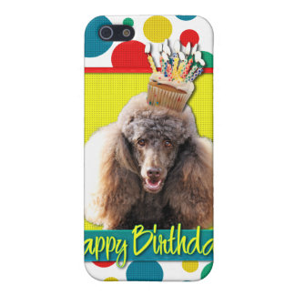 Birthday Cupcake - Poodle - Chocolate iPhone 5 Cases