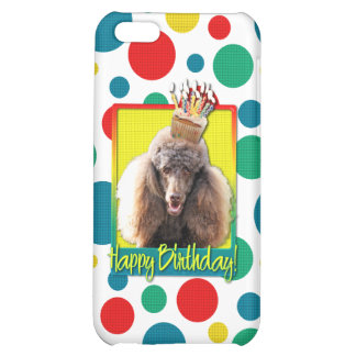 Birthday Cupcake - Poodle - Chocolate Case For iPhone 5C