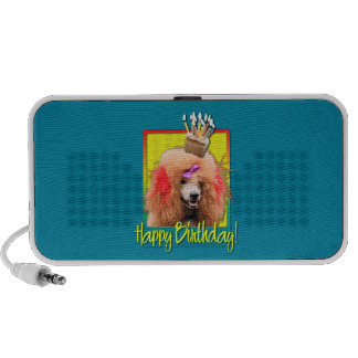 Birthday Cupcake - Poodle - Red iPod Speaker