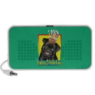 Birthday Cupcake - Pug - Ruffy Notebook Speakers