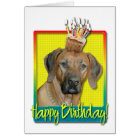 Birthday Cupcake - Rhodesian Ridgeback Card