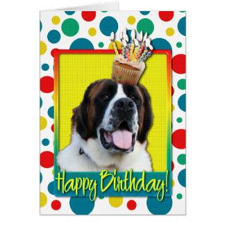 Birthday Cupcake - Saint Bernard - Mae Card