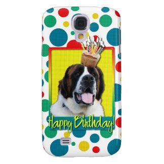 Birthday Cupcake - Saint Bernard - Mae Samsung Galaxy S4 Covers