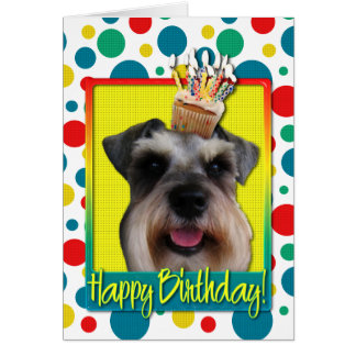 Birthday Cupcake - Schnauzer Card