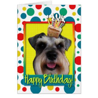 Birthday Cupcake - Schnauzer Greeting Card