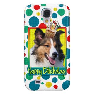 Birthday Cupcake - Sheltie Galaxy S4 Case