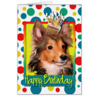 Birthday Cupcake - Sheltie Puppy - Cooper Card