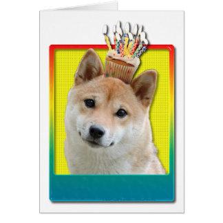 Birthday Cupcake - Shiba Inu Card