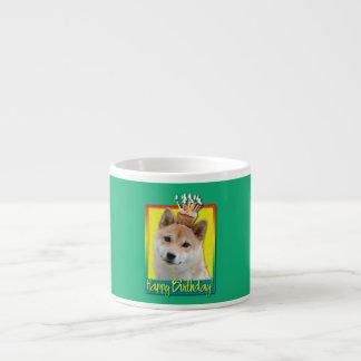 Birthday Cupcake - Shiba Inu Espresso Cup
