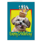 Birthday Cupcake - ShihPoo - Maggie Card
