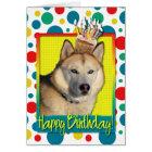 Birthday Cupcake - Siberian Husky - Copper Card