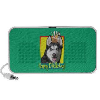 Birthday Cupcake - Siberian Husky iPod Speaker