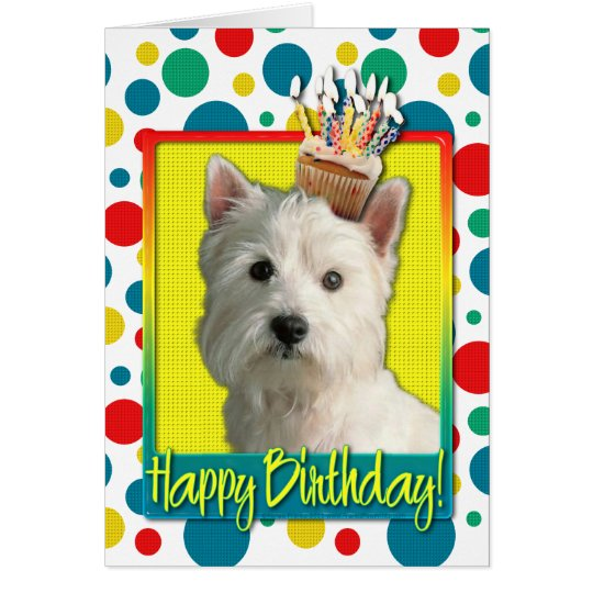 Birthday Cupcake - West Highland Terrier Greeting Card
