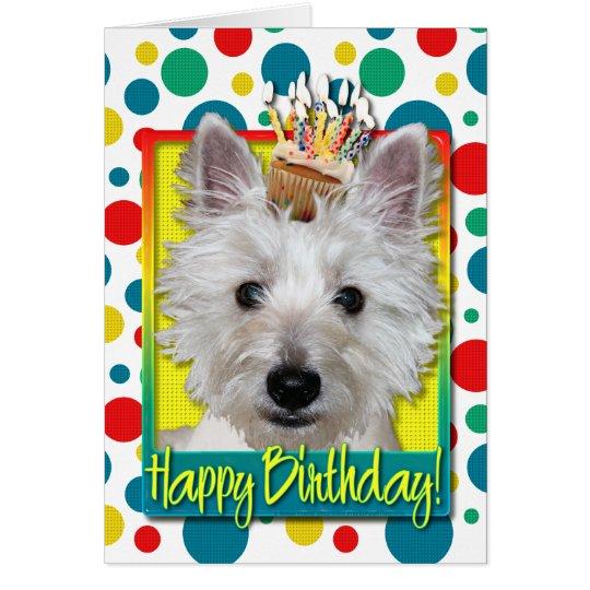 Birthday Cupcake - Westie - Tank Card
