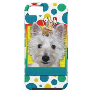 Birthday Cupcake - Westie - Tank iPhone 5 Cases