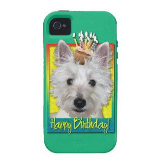 Birthday Cupcake - Westie - Tank iPhone 4/4S Covers