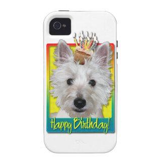 Birthday Cupcake - Westie - Tank Vibe iPhone 4 Case