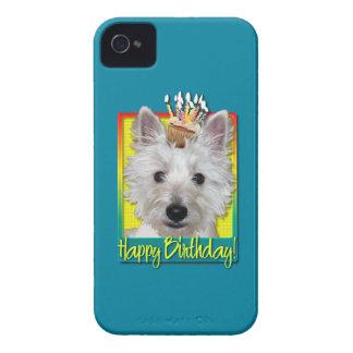Birthday Cupcake - Westie - Tank iPhone 4 Cases