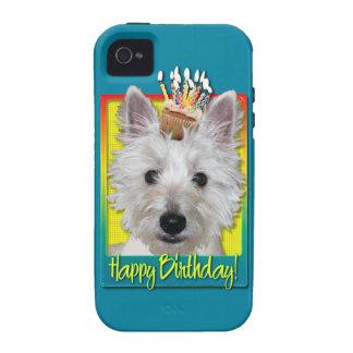 Birthday Cupcake - Westie - Tank iPhone 4/4S Cover