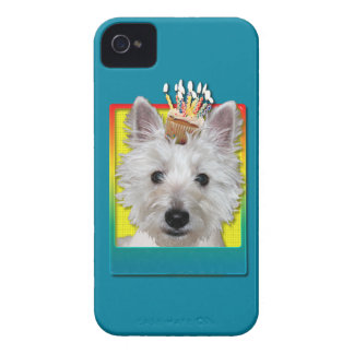 Birthday Cupcake - Westie - Tank iPhone 4 Case-Mate Case