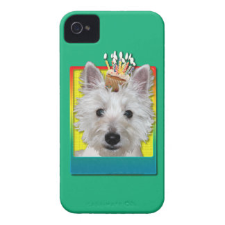 Birthday Cupcake - Westie - Tank iPhone 4 Case-Mate Cases