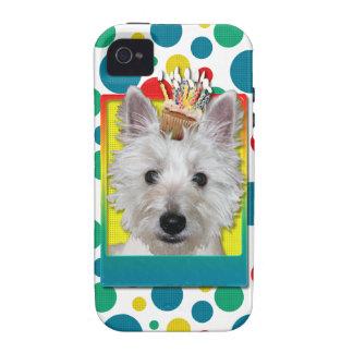 Birthday Cupcake - Westie - Tank iPhone 4 Covers