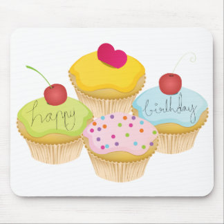 Birthday Cupcakes Mouse Mat